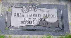 Rhea May <I>Harris</I> Blood