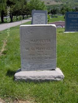 Maryetta <I>Wilson</I> Mayfield