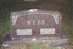 Lettie V <I>Clay</I> Webb