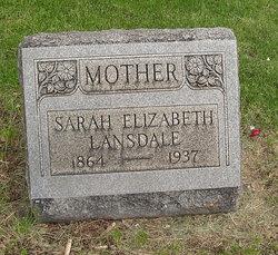 Sarah Elizabeth <I>English</I> Lansdale