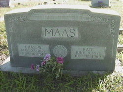 "Catherine ""Kate"" <I>Braden</I> Maas"
