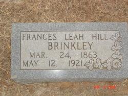 Frances Leah <I>Hill</I> Brinkley