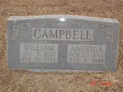 America Frances <I>McWhorter</I> Campbell