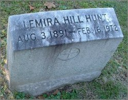 Lemira Gillett <I>Hill</I> Hunt