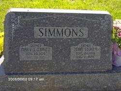 """Mary Jane """"Jennie"""" <I>O'Brien</I> Simmons"""