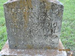 Infant Cecil Lee Barnes