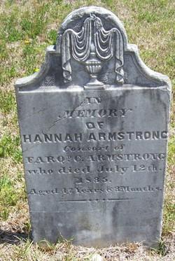 Hannah <I>Buchanan</I> Armstrong