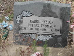 Carol Hyslop <I>Phelps</I> Thomson