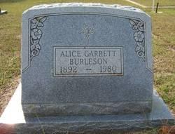 Alice Annie <I>Garrett</I> Burleson