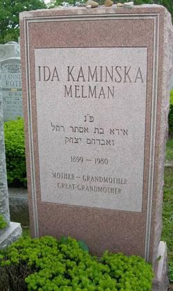 Ida <I>Kaminska</I> Melman