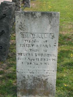 Abigail F <I>Sears</I> Burgess
