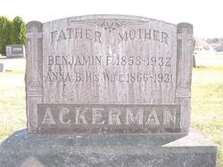Anna Barbara <I>Wachter</I> Ackerman