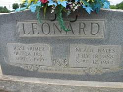 "Cornelia Frances ""Nealie"" <I>Bates</I> Leonard"