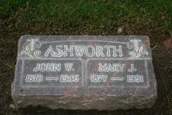"Mary Jane ""Janie"" <I>Sessums</I> Ashworth"