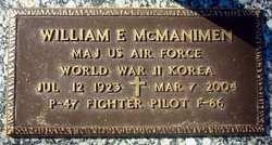 Maj William Edward McManimen, Jr