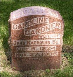 Caroline <I>Gardner</I> Radbourn
