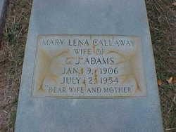 """Mary Lena """"Aunt Lena"""" <I>Callaway</I> Adams"""