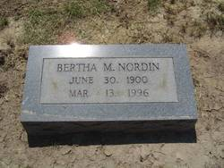 Bertha Mae <I>Kenemore</I> Nordin