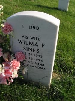 Wilma F Sines