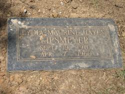Lydia Maurine <I>Hayes</I> Lipsmeyer