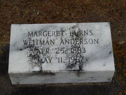 Margaret Burns <I>Weitman</I> Anderson