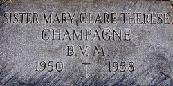 Sr Mary Clare Therese Champagne