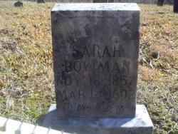 Sarah <I>Anglin</I> Bowman
