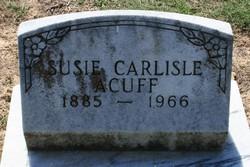 Susie <I>Carlisle</I> Acuff