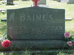 Lillie Rose <I>Slavens</I> Baines