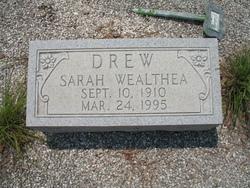 Sarah Wealtha Drew