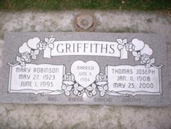 Mary <I>Robinson</I> Griffiths