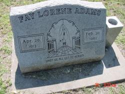 Faye Lorene <I>King</I> Adams