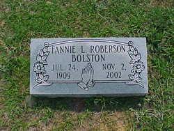 Fannie L. <I>Roberson</I> Bolston