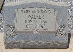 Mary Ann <I>Davis</I> Walker