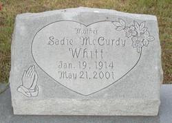 Sadie Mae <I>McCurdy</I> Whitt