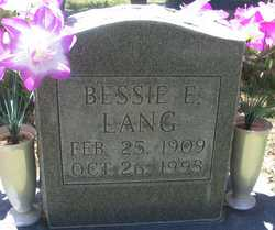 Bessie Eugenia <I>Anderson</I> Lang