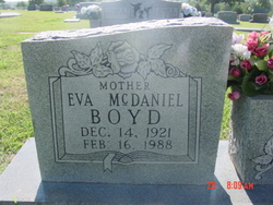 Eva <I>McDaniel</I> Boyd