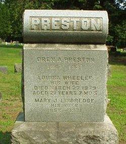 Louisa <I>Wheeler</I> Preston
