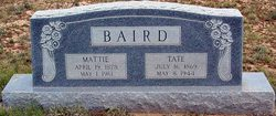 Mattie <I>Evans</I> Baird