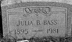 Julia Ann <I>Barton</I> Bass