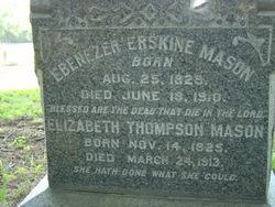 """Ebenezer Erskine """"Eben/Ebon"""" Mason"""