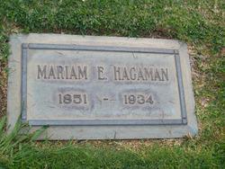 Mariam E <I>Ruddock</I> Hagaman
