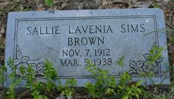 Sallie Lavenia <I>Sims</I> Brown