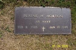Blaine H Horton
