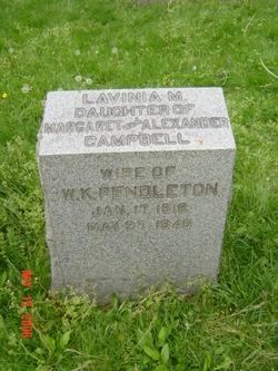 Lavinia M <I>Campbell</I> Pendleton
