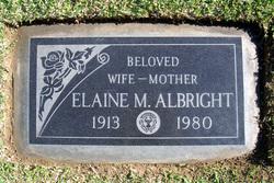 Elaine <I>Malloy</I> Albright