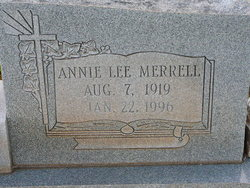 Annie Lee <I>Merrell</I> Anderson