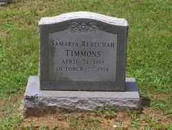Samaria Rebechah <I>Abel</I> Timmons