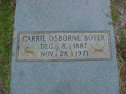 Carrie <I>Osborne</I> Boyer