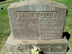 Zenas Franklin Mattson
